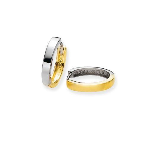 Glow Gouden Oorbellen Klapcreolen 14 x 2.5 mm 207.5096.14-1