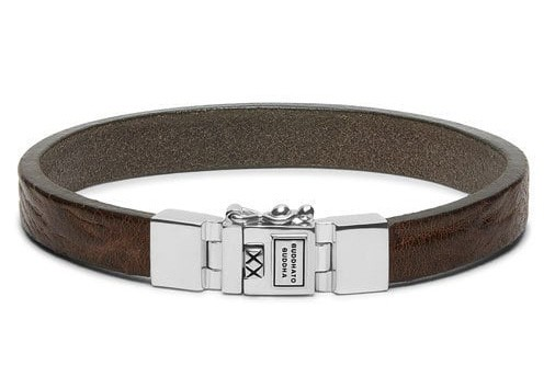 Buddha to Buddha armband Essential Leather Smooth Sand (E) 19 cm 186SA