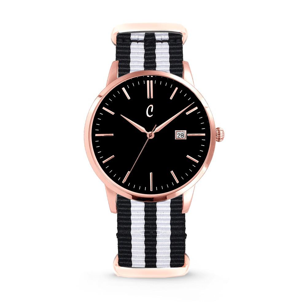Colori Nato Connaisseur 5-COL500 - Horloge - nato - zwart/ wit - ø 40 mm