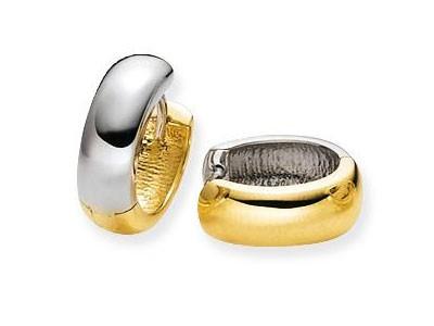 Glow Gouden Oorbellen Klapcreolen 14 x 5.0 mm 207.5100.14 -2