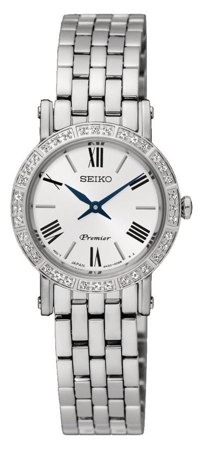 Seiko Premier Dameshorloge Zilverkleurig met diamant SWR023P1