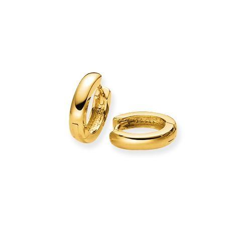 Gouden klapcreolen gold collection Glanzend - ronde buis - 12 x 2.5 mm 207.5074.12