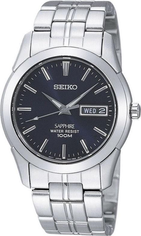 Seiko Herenhorloge Zilverkleurig met saffierglas SGG717P1