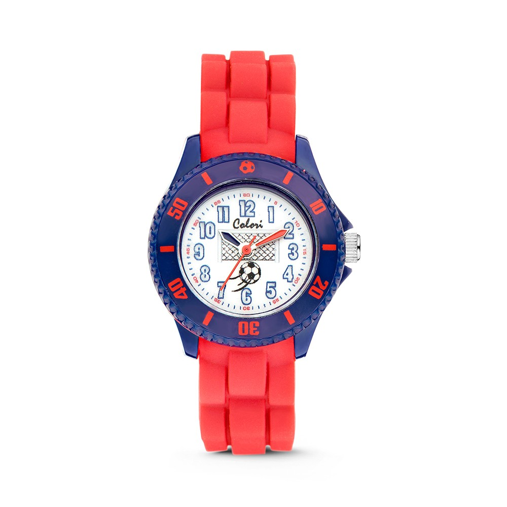 Colori - Kidz - 5-CLK057 - Kinderhorloge - siliconen band - rood - 30 mm