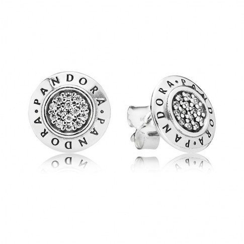 Pandora Oorknoppen zilver 'Pandora-logo' 290559CZ