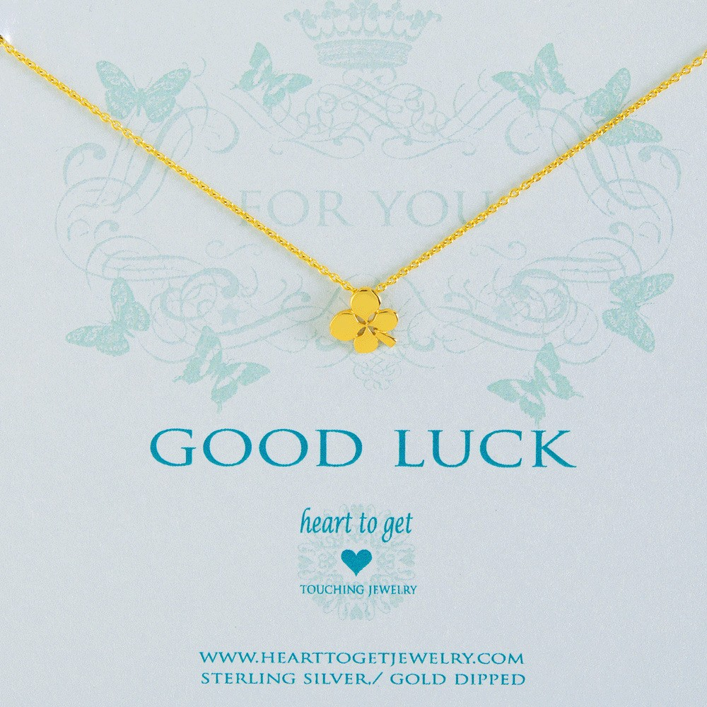Heart to get N17CLO11G Good luck ketting goud