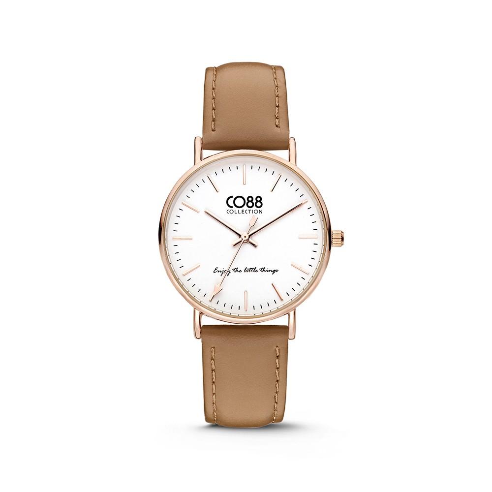 CO88 Collection 8CW-10005 - Horloge - Leer - licht bruin - 36 mm