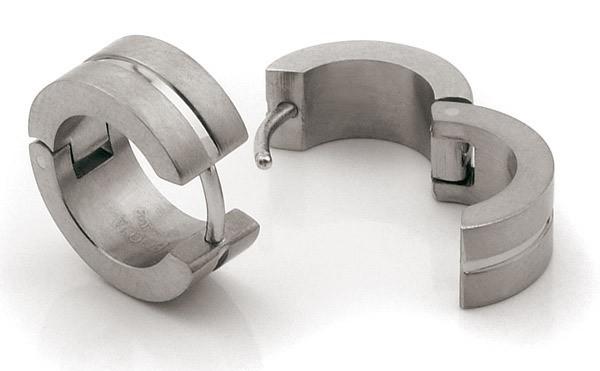 Boccia 0503-02 Oorringen titanium zilverkleurig 6 x 15 mm