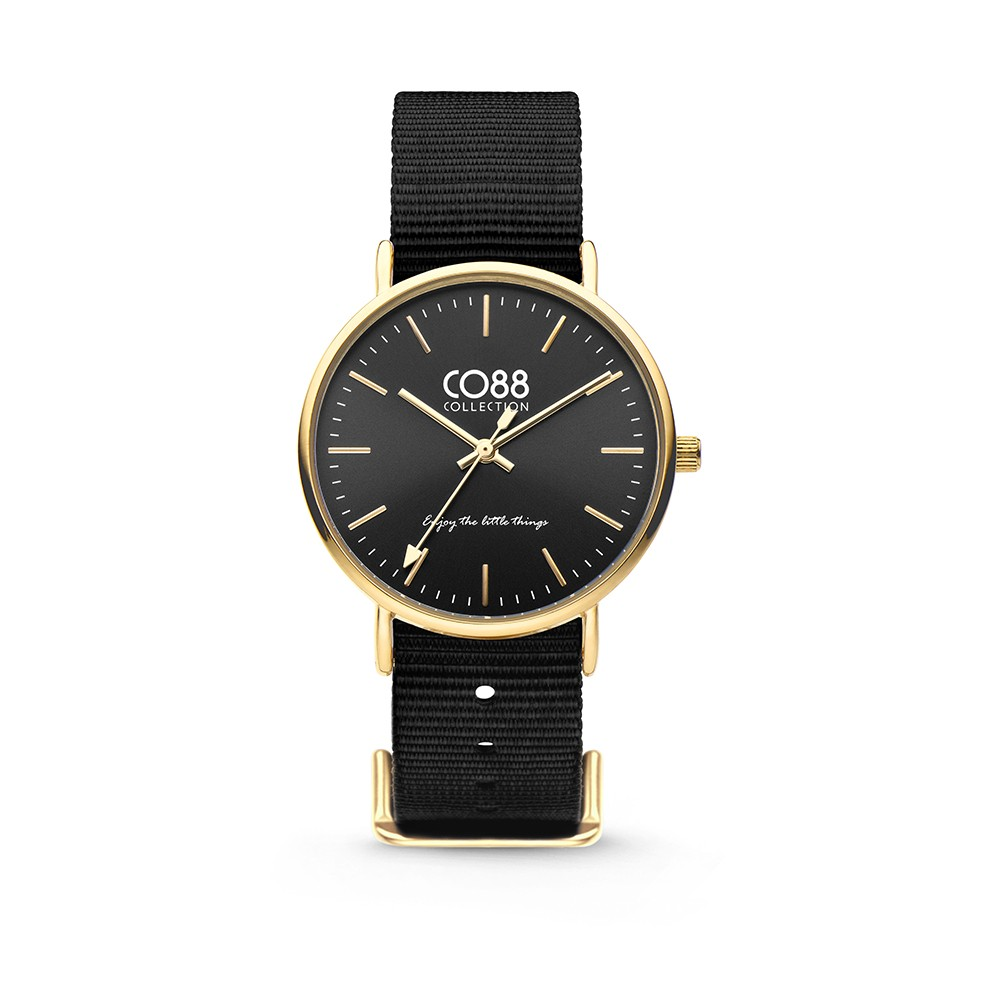 CO88 Collection 8CW-10019 - Horloge - Nato nylon - zwart - 36 mm