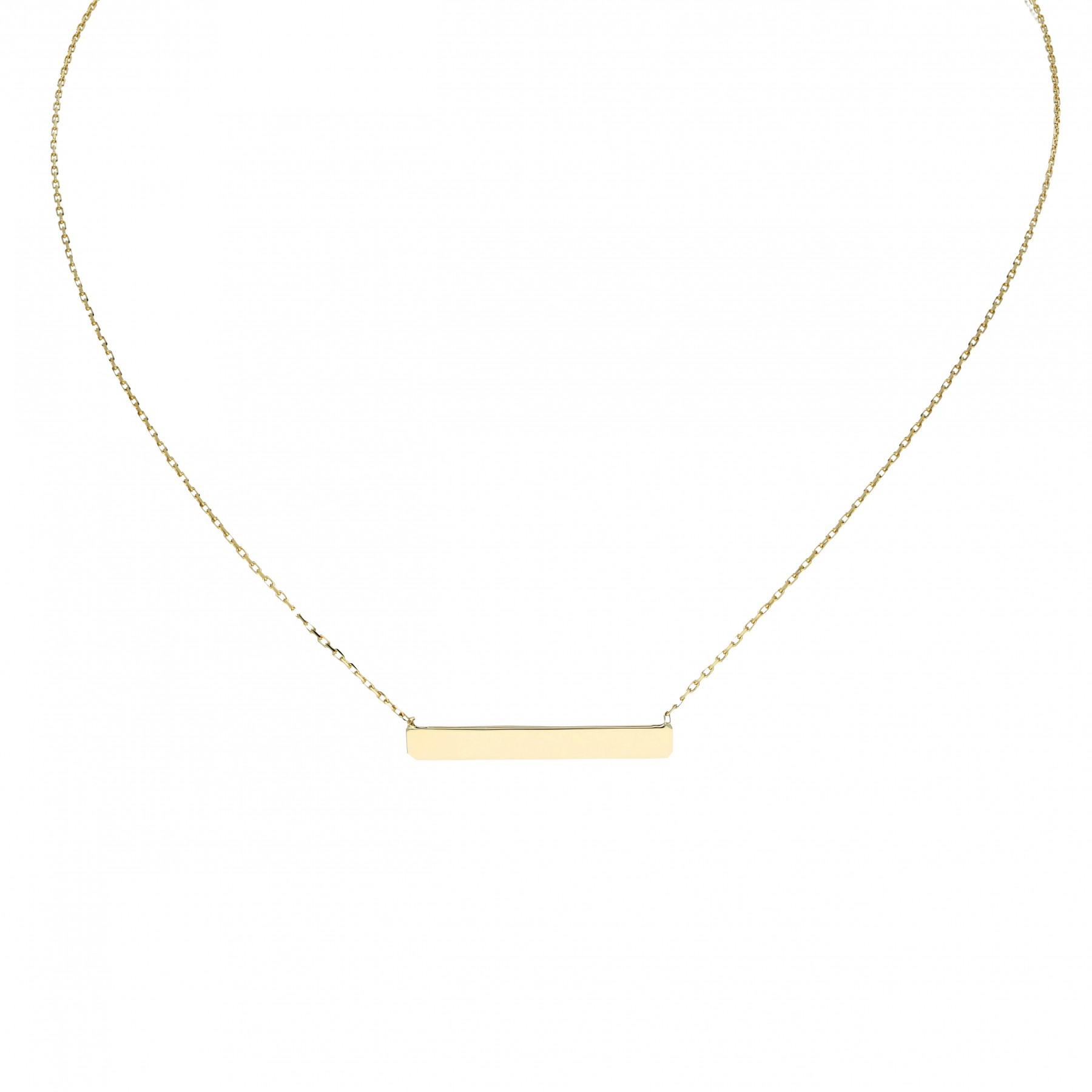 Glow Gouden Collier Met Hanger - Balk 42+3cm 202.2056.45