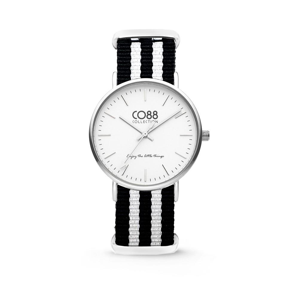 CO88 Collection - 8CW-10035 - Horloge - nato nylon - zwart/wit - 36 mm