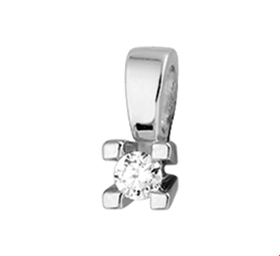 TFT Hanger Witgoud Diamant 0.10 Ct.
