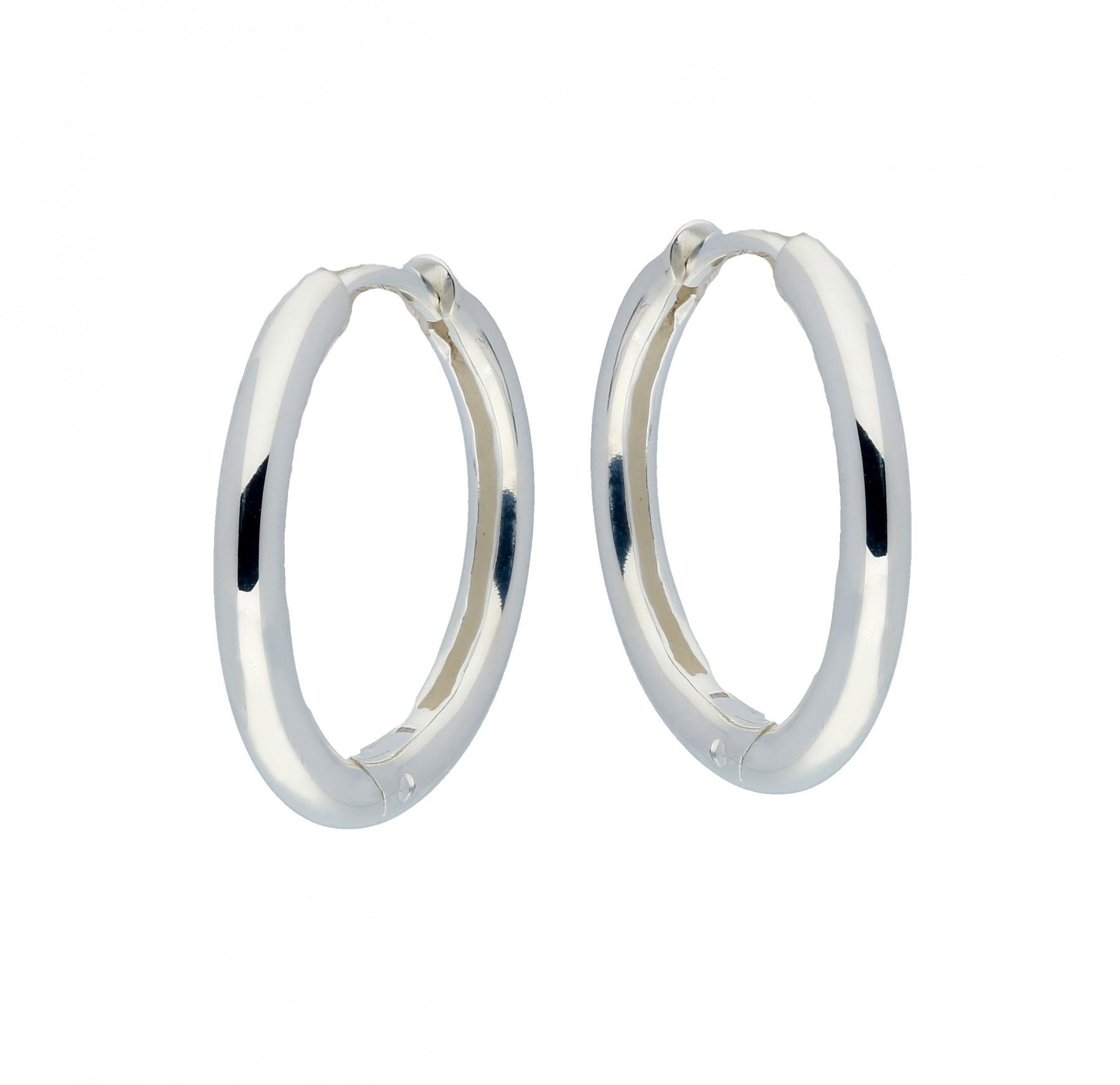 Zilveren klapcreolen 107.0067.20 - ronde buis 2.5 mm