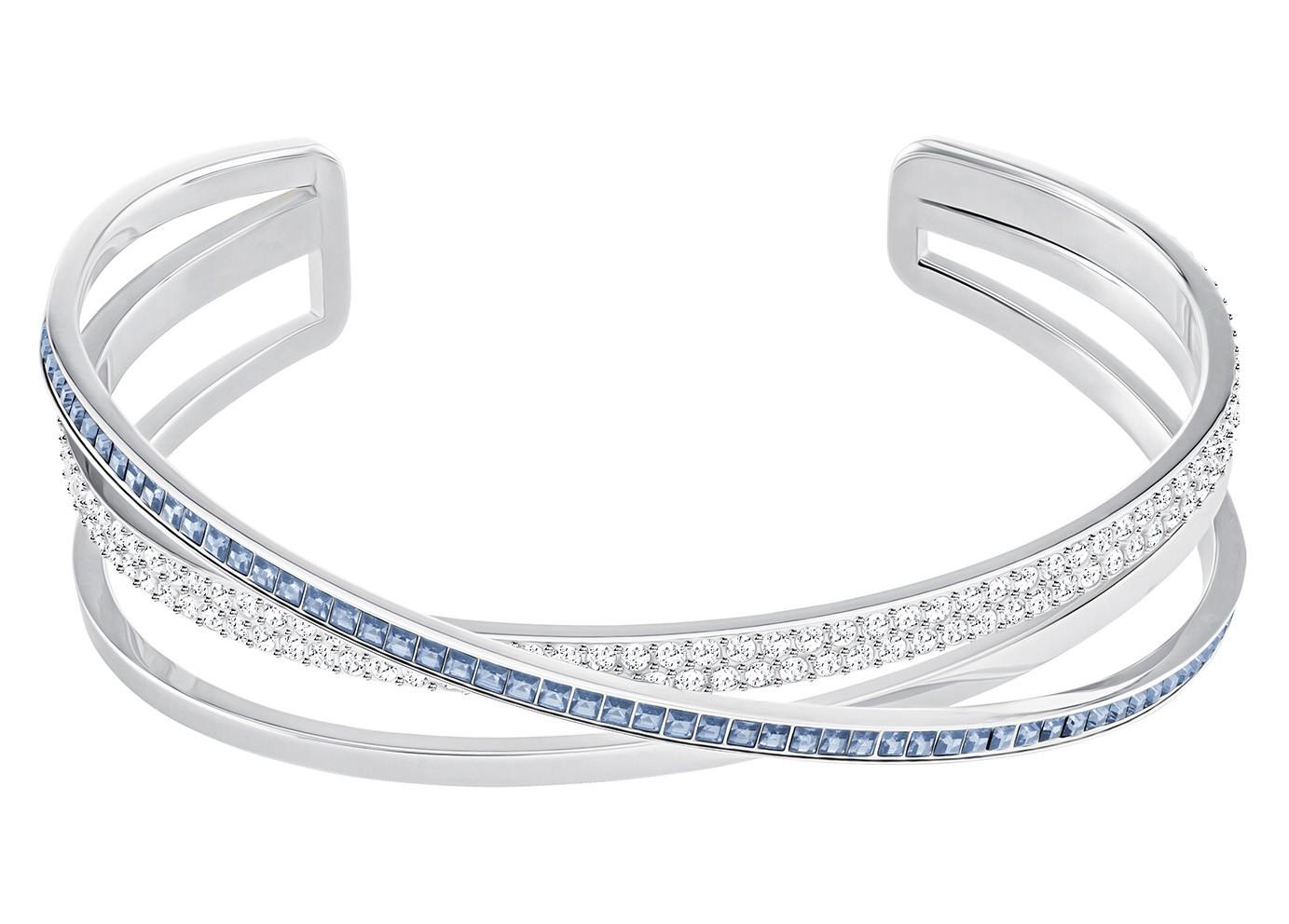 Swarovski Armband Hero Cuff  Silver-Blue M 5290178