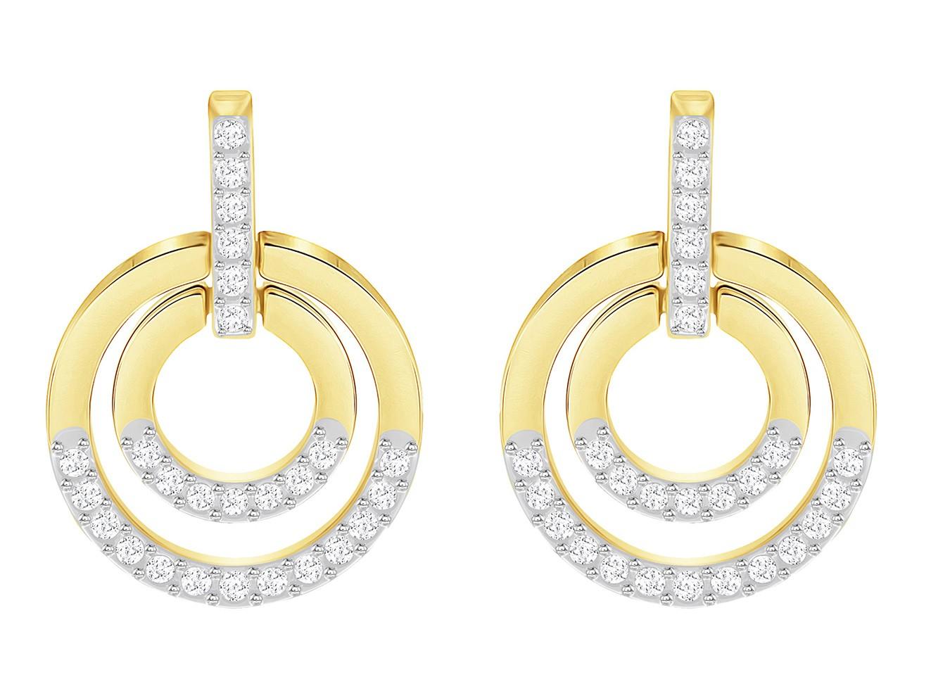 Swarovski Oorbellen Circle White/Gold 5290188
