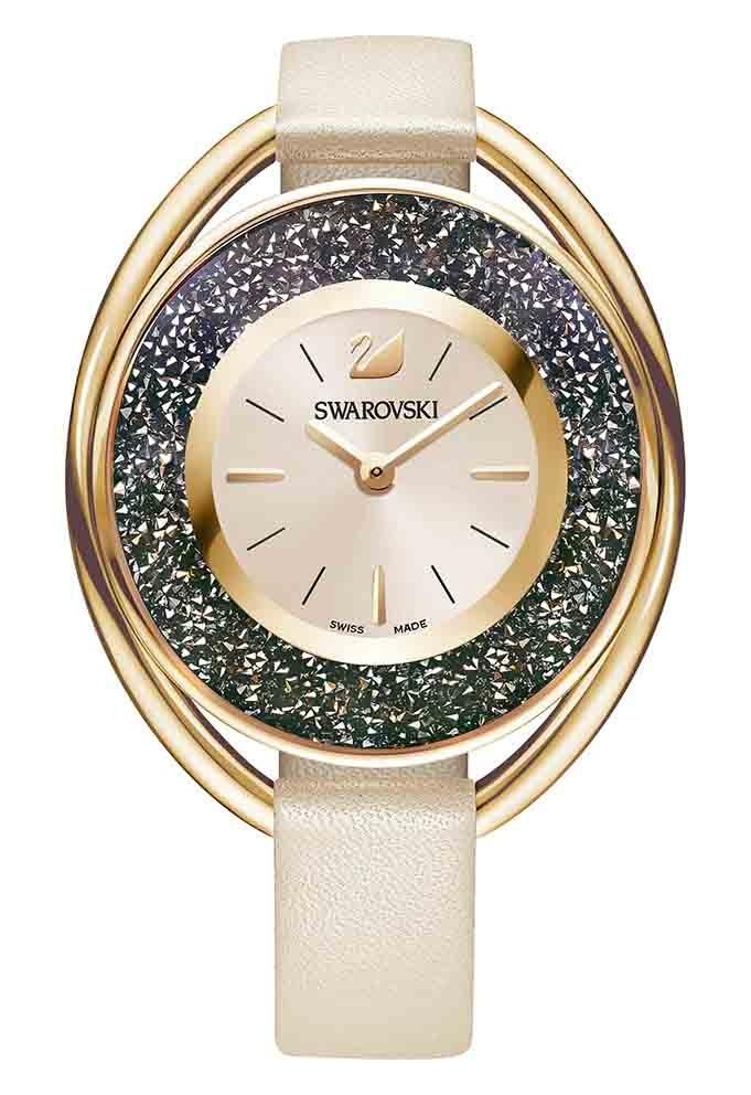 Swarovski Dameshorloge Crystalline Oval Gray-Rosegold 5296319