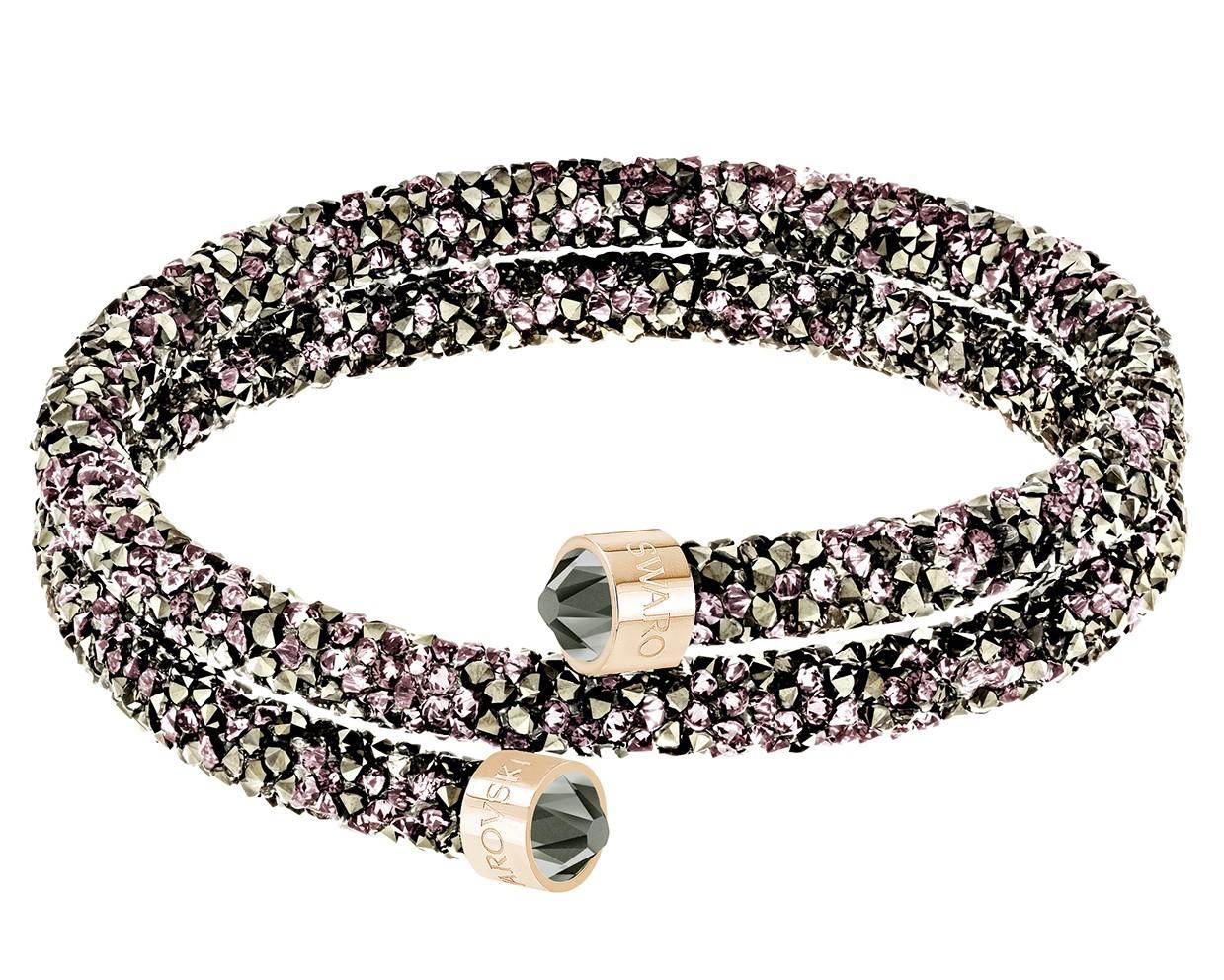 Swarovski Armband Crystaldust Bangle Double Brown-Rosegold M 5348102