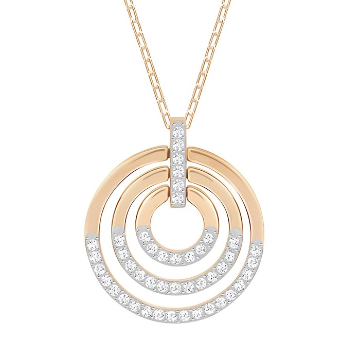 Swarovski Ketting Circle White-Rosegold 5349193