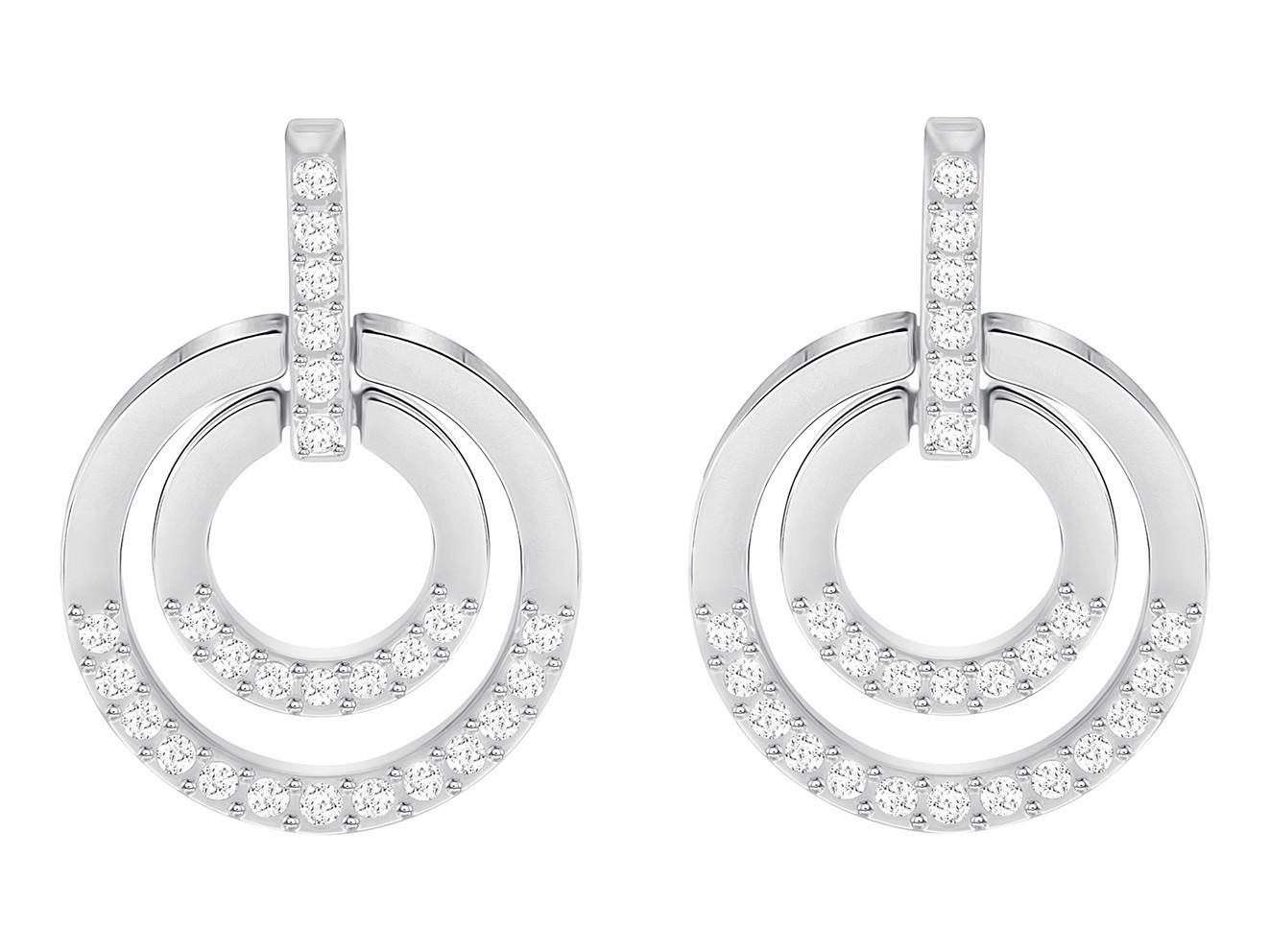 Swarovski Oorbellen Circle Medium White/Silver 5349203