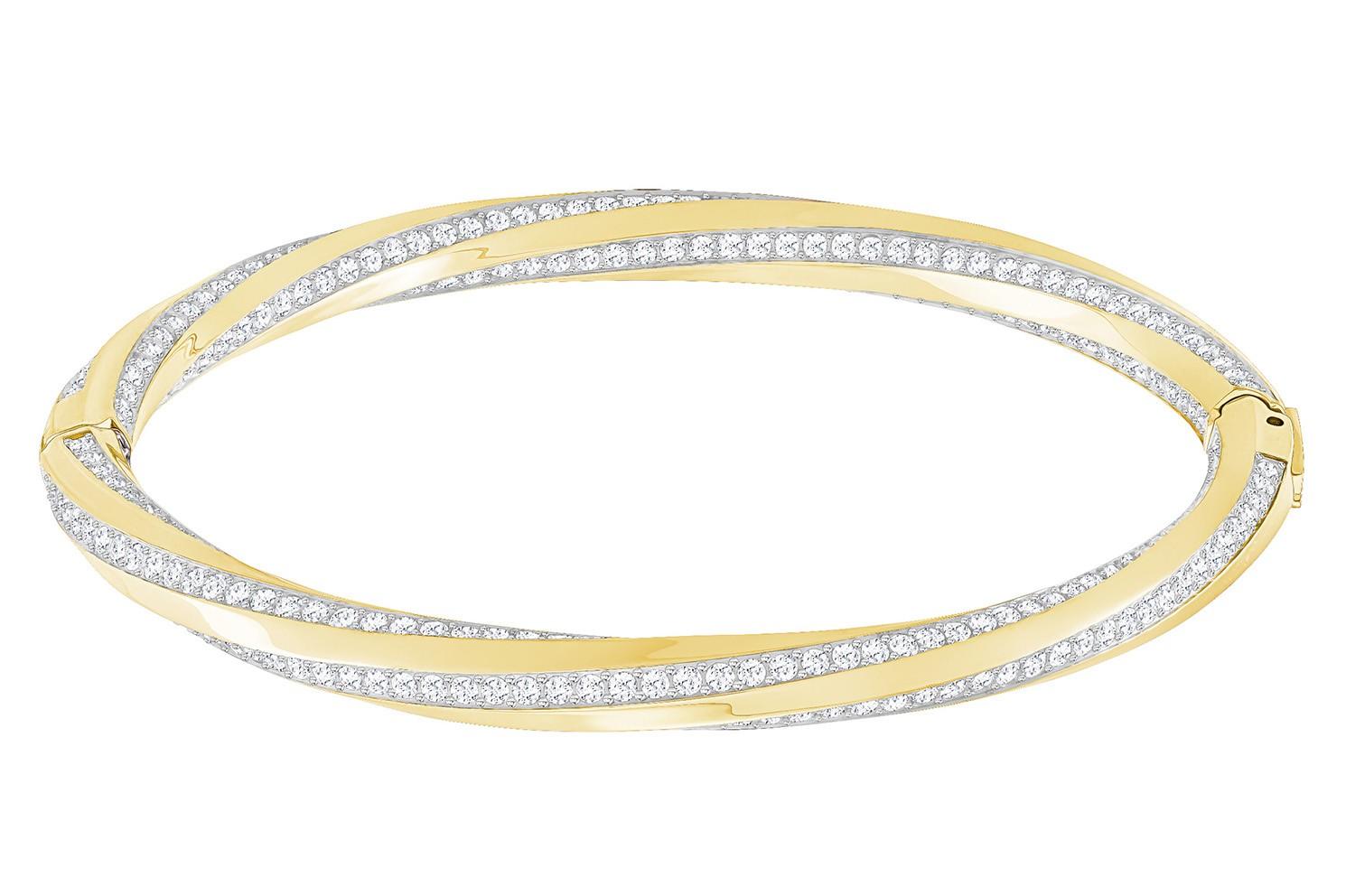Swarovski Armband Hilt Bangle goudkleurig M 5350170