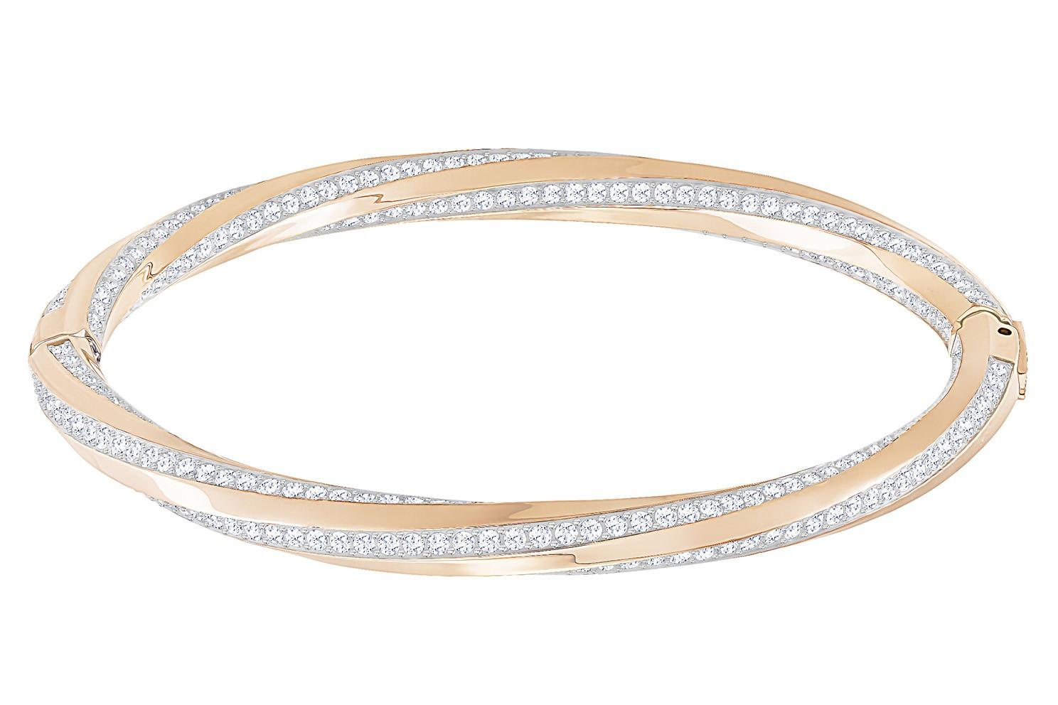 Swarovski Armband Hilt Bangle rosékleurig L 5372856