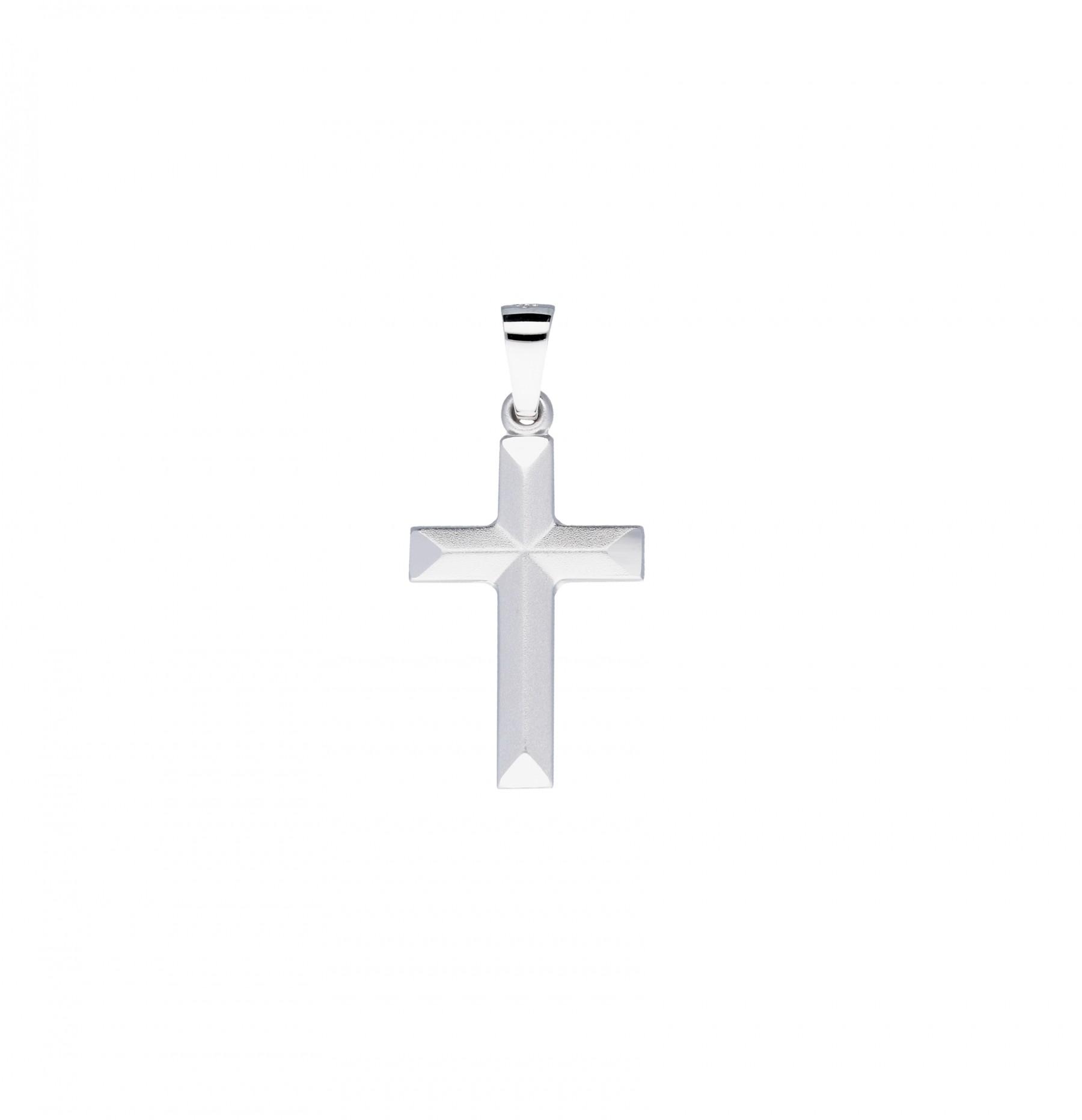 Religious Witgouden Kruisje - 25 X 12 Mm Witgoud Mat Glanzend 246.3000.00