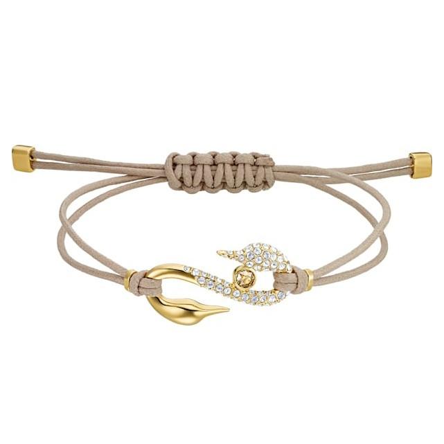 Swarovski 5508527 Armband SwaPower S-Hook goudkleurig-taupe 24 cm