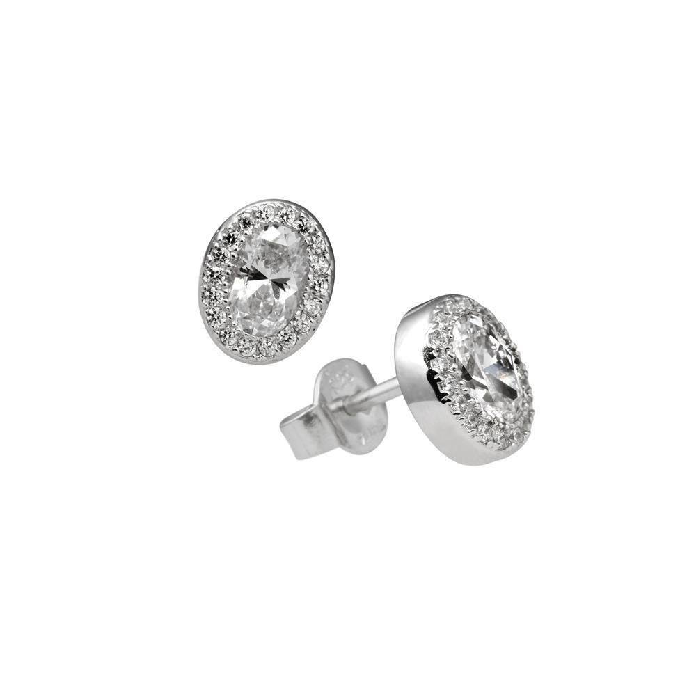 Diamonfire 806.0123.00 Oorknoppen Signature zilver-zirconia