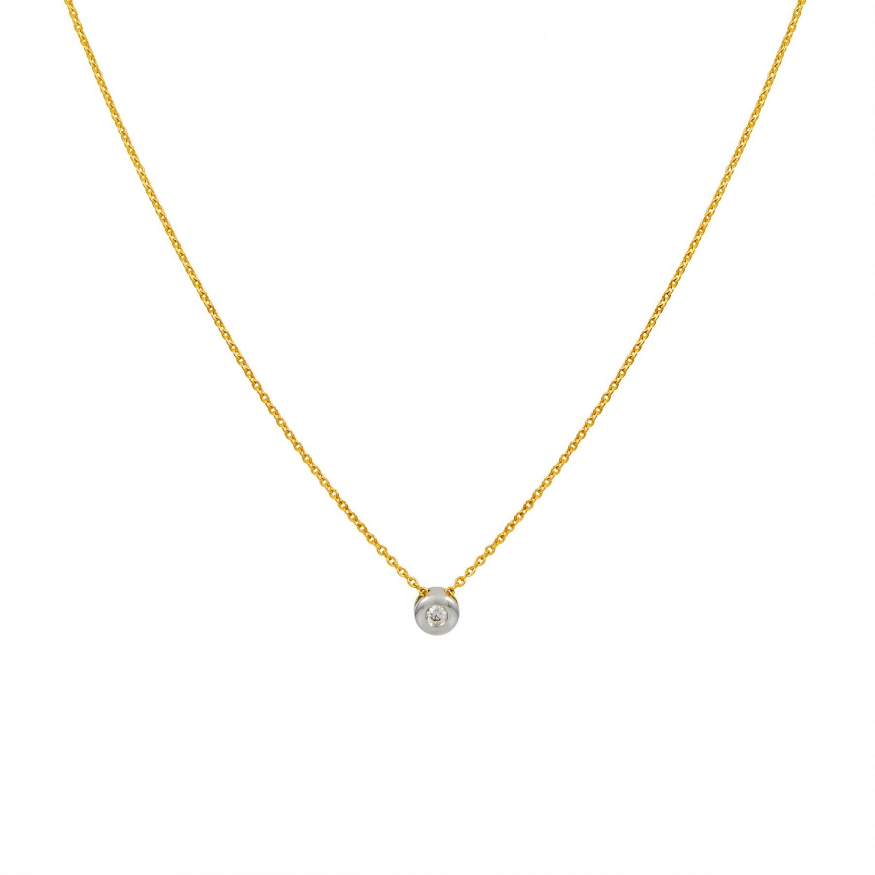 Diamant - 0.054ct - gh/si3 45 cm - ankerschakel - diamant - 0.054ct - gh/si3 202.5011.45