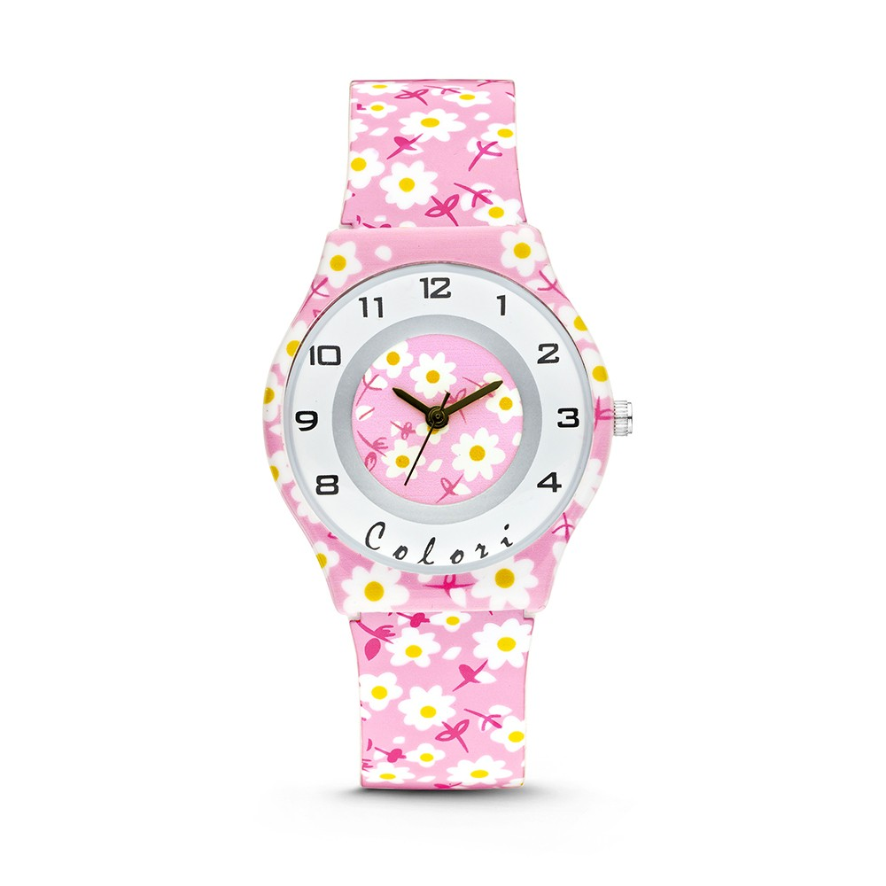 Colori 5-CLK046 - Horloge - 34 mm - Roze