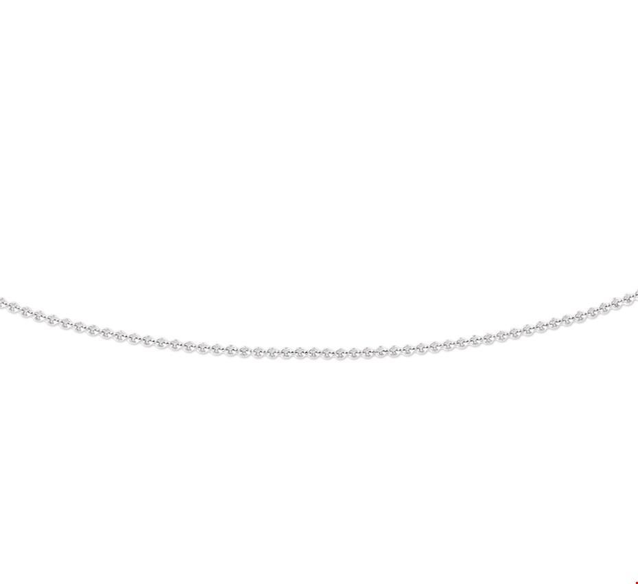 Armband Witgoud Anker 0,8 mm 38 cm