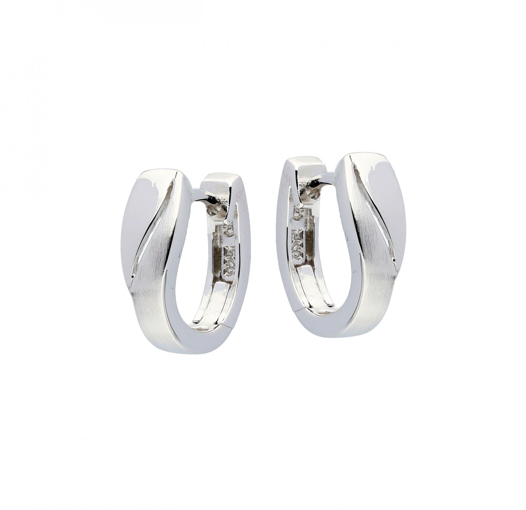 Zilveren klapcreolen - mat glanzend  107.6300.00
