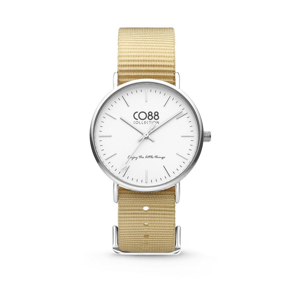 CO88 Collection 8CW-10024 - Horloge - Nato nylon - zandkleurig - 36 mm