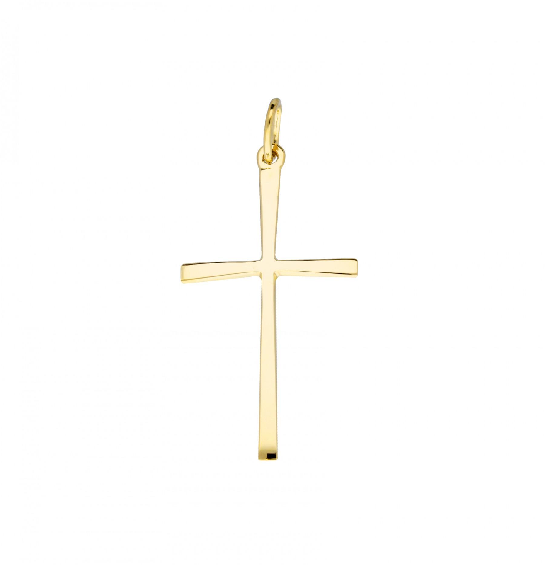 Religious Gouden Kruisje - 15.5 X 29 Mm Glad Hol  246.0018.00