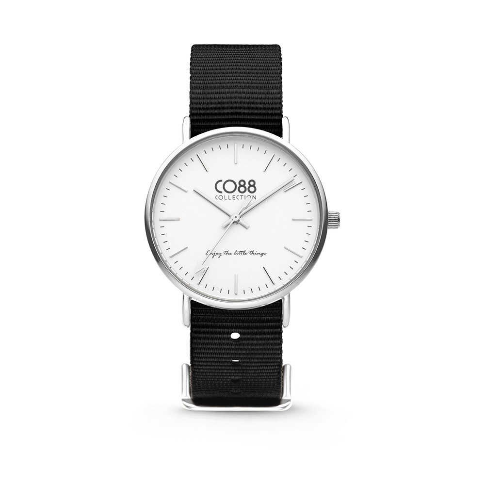 CO88 Collection 8CW-10023 - Horloge - Nato nylon - zwart - 36 mm