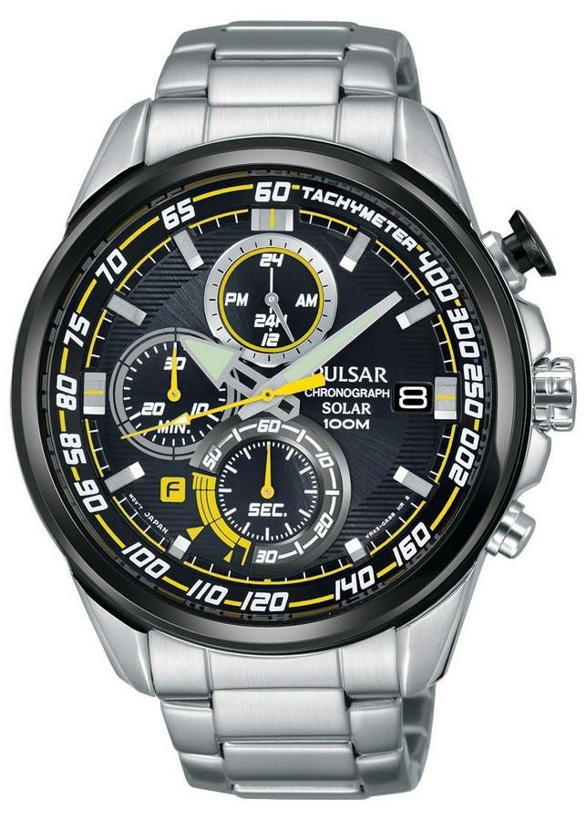 Pulsar PZ6003X1 Heren Solar Chronograaf horloge (Pulsar reclame model)