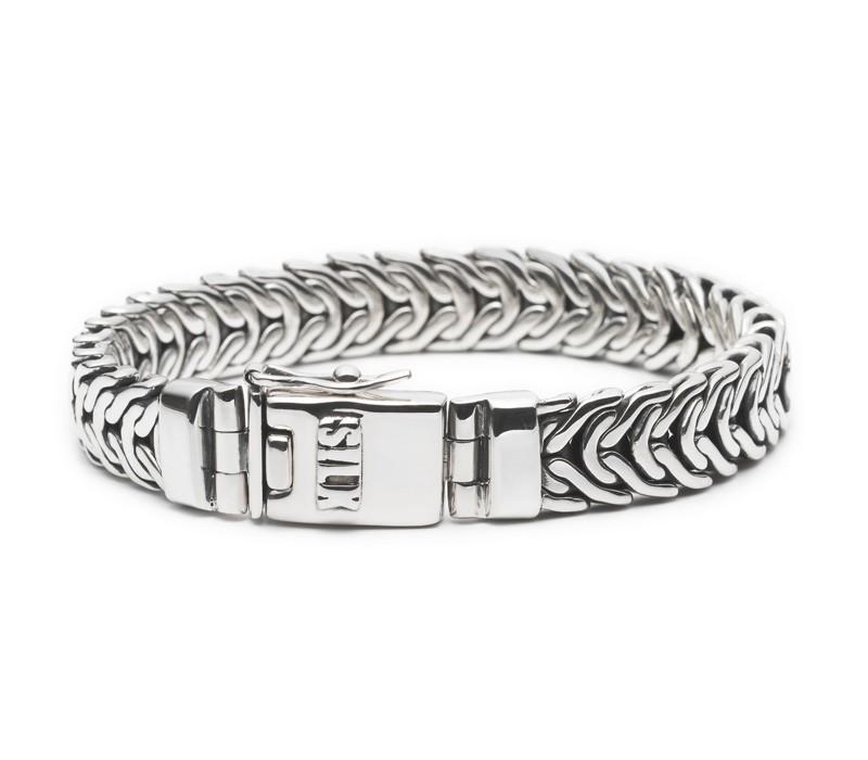 Silk Jewellery 213.19 Armband zilver 'Ganesha' 19 cm