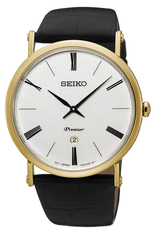 Seiko Herenhorloge Premier goudkleurig SKP396P1