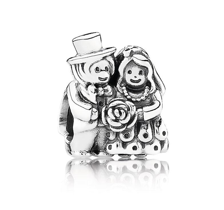 Pandora Bedel zilver 'Bruid en bruidegom' 791116