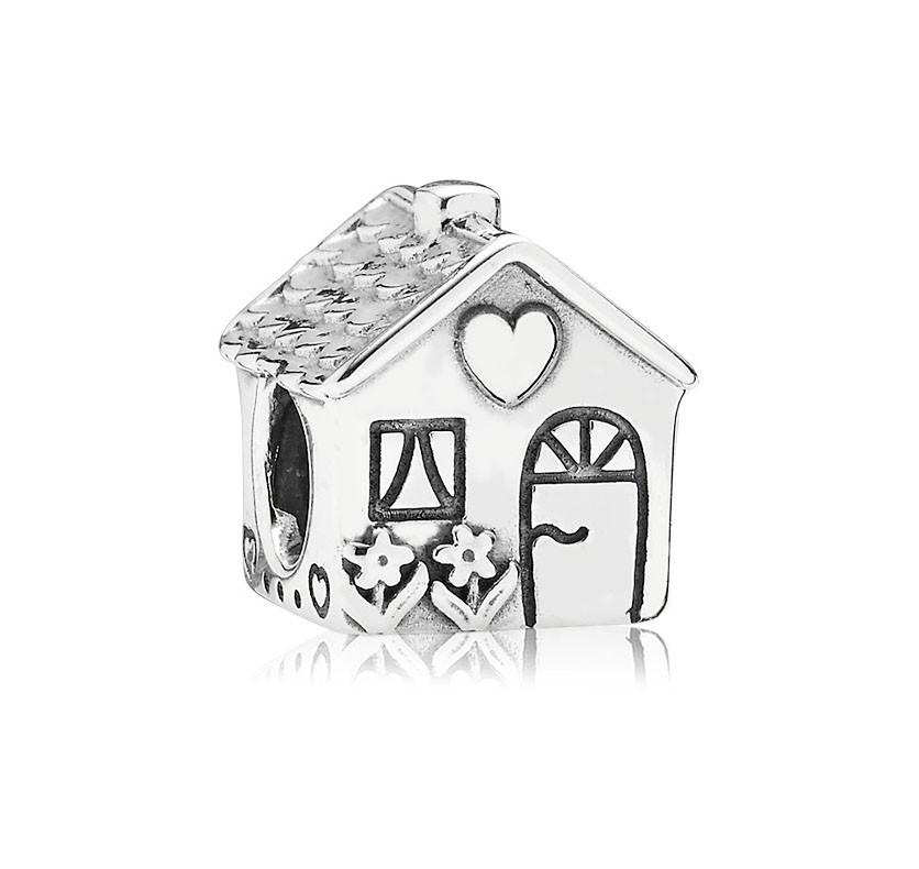 Pandora Bedel zilver 'Home Sweet Home' 791267