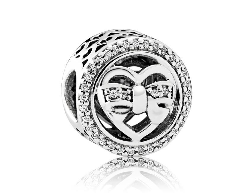 Pandora Bedel zilver 'Heart' 792146CZ