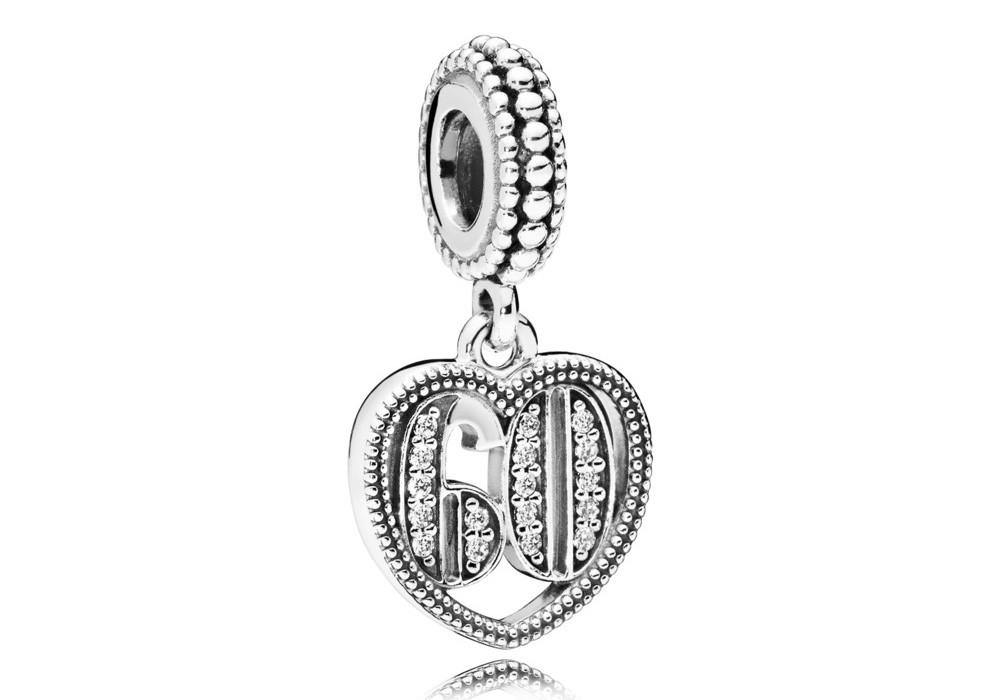 Pandora Hangbedel zilver 60 Years of Love 797265CZ