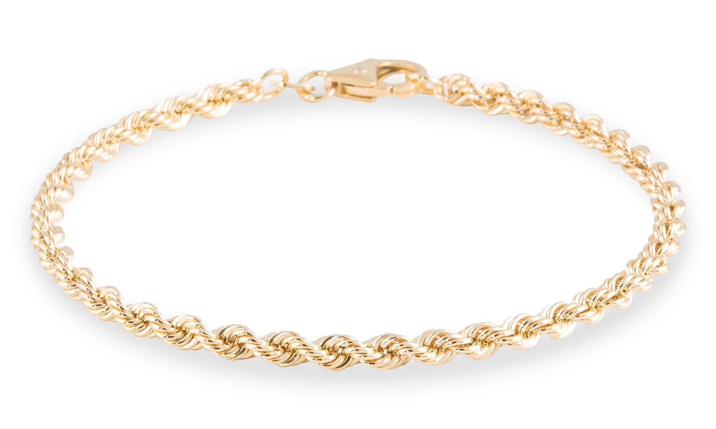 Gouden Armband Koord 19 cm x 3.2 mm 204.2014.19