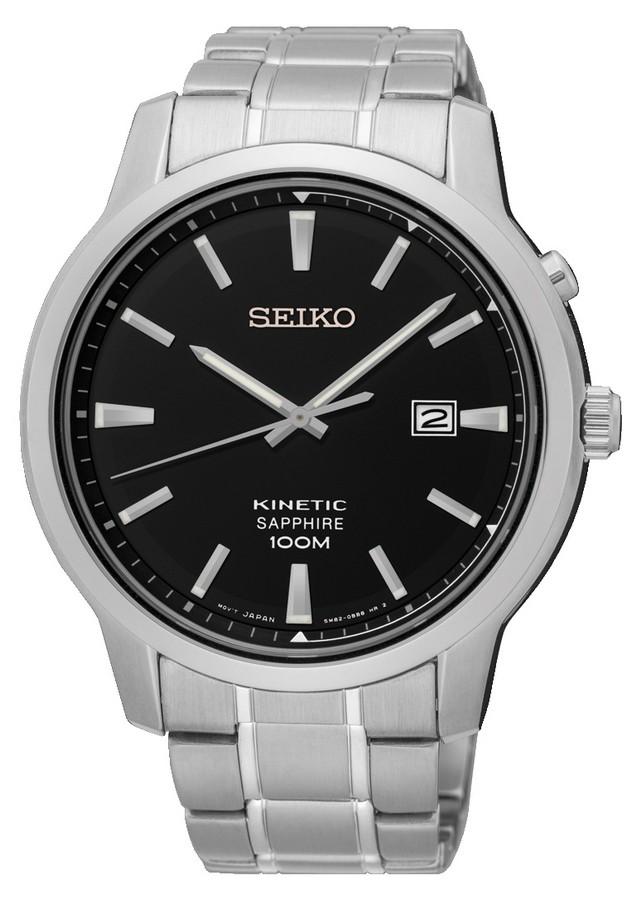Seiko Herenhorloge Kinetic en Saffierglas SKA741P1