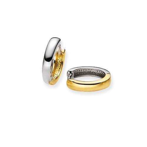 Glow Gouden Oorbellen Klapcreolen 14 x 2.5 mm 207.5094.14