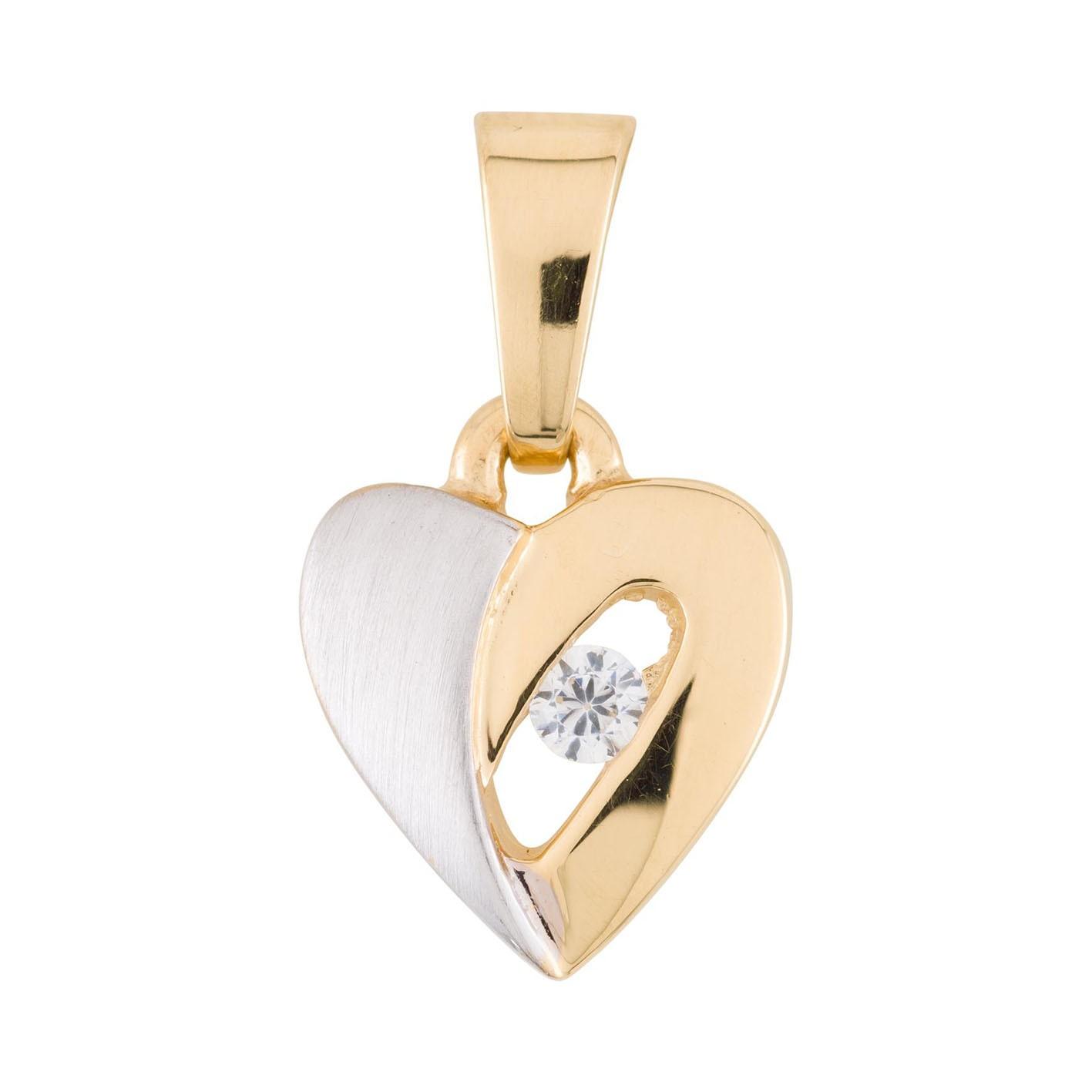Glow Gouden Hanger Hart bicolor 220.0046.00
