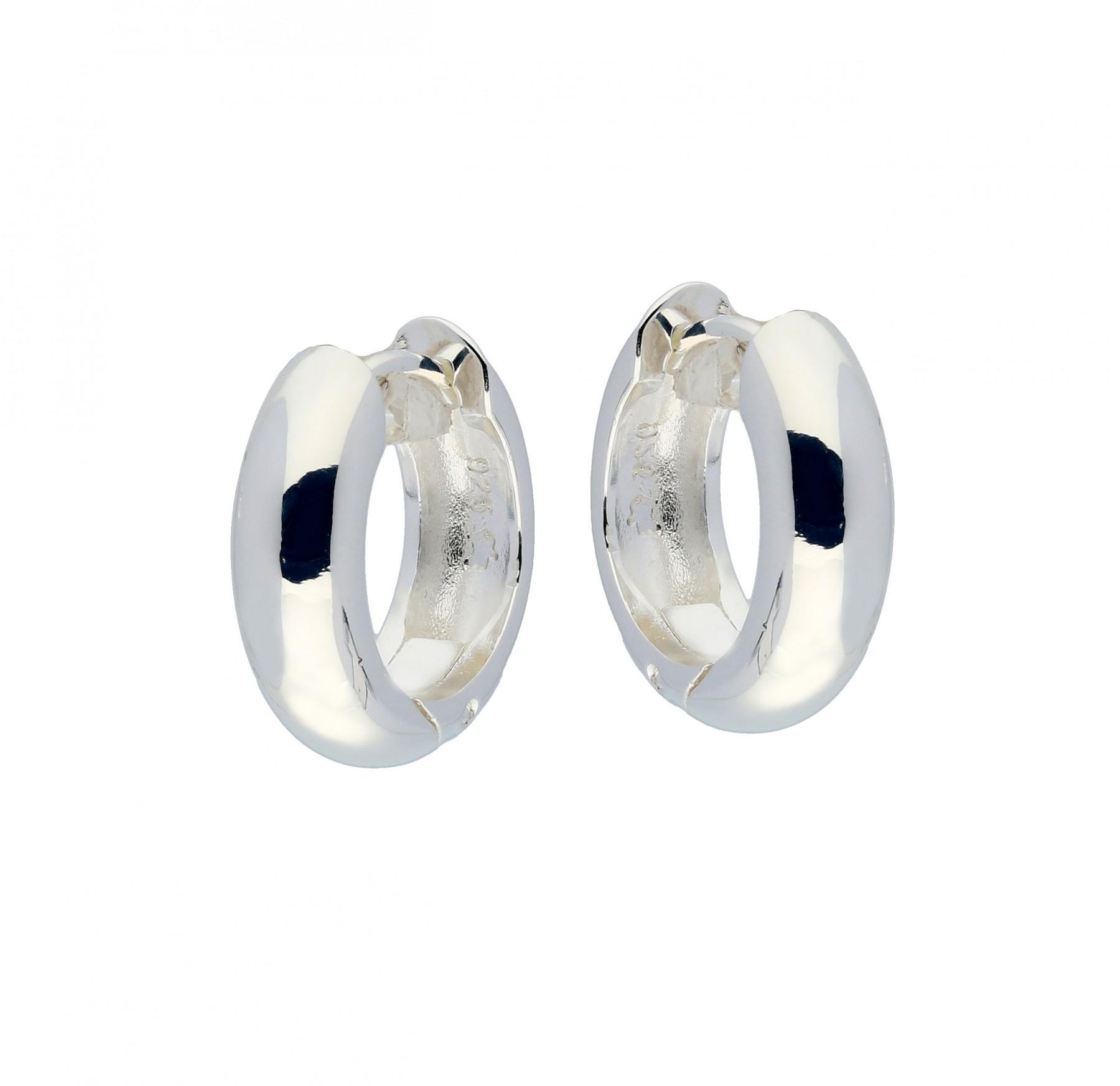 Zilveren klapcreolen - ronde buis 5 mm  107.0069.16