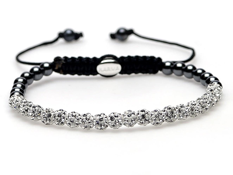 Karma Armband Spiral White Crystal 84148