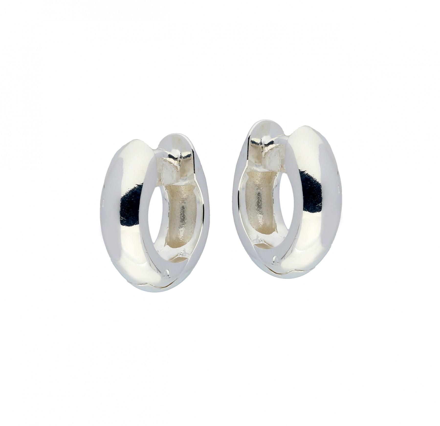 Zilveren klapcreolen - ronde buis 5 mm  107.0069.14