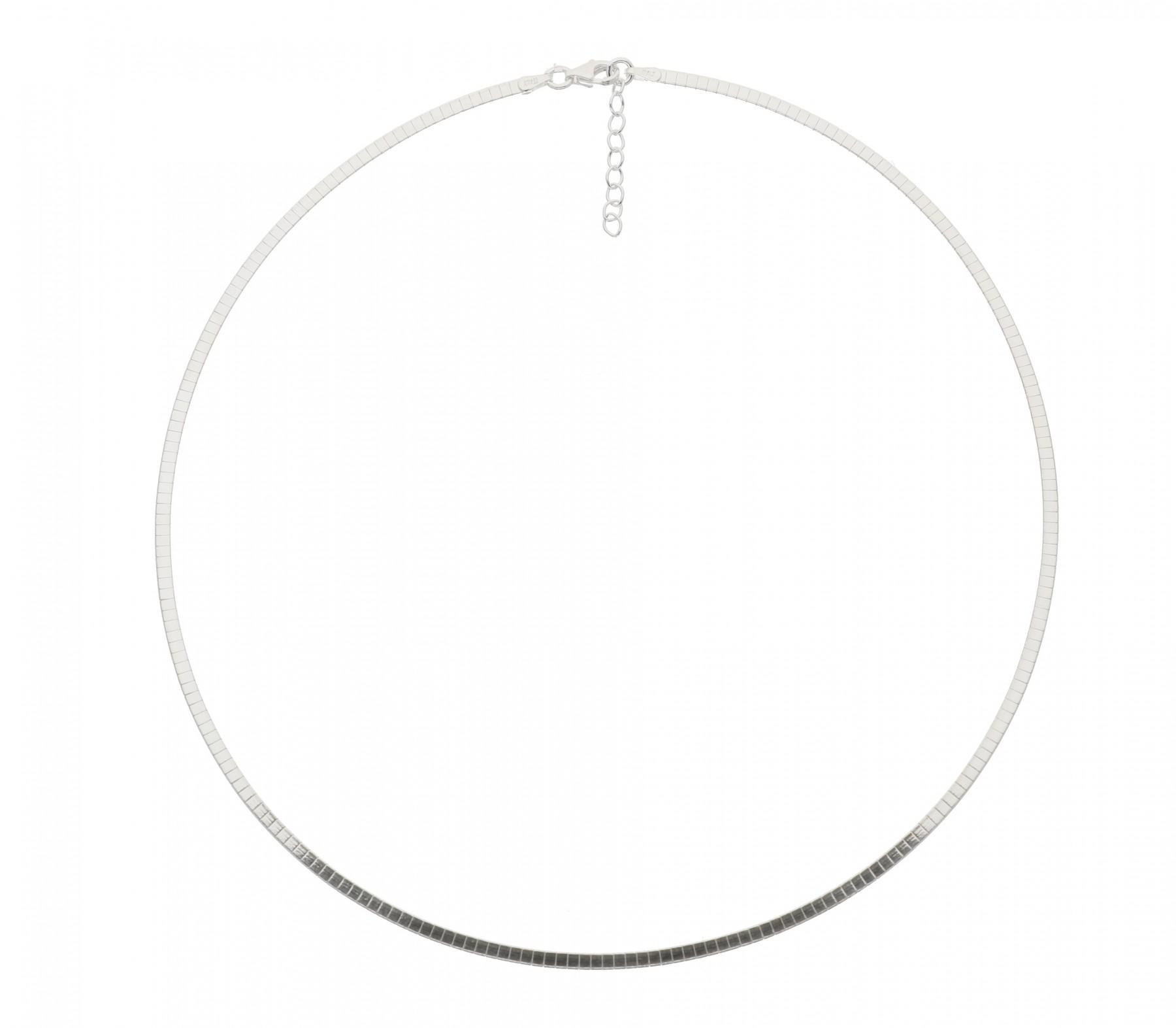 Zilveren omegacollier best basics Halfrond 2.0 mm 103.7035.43
